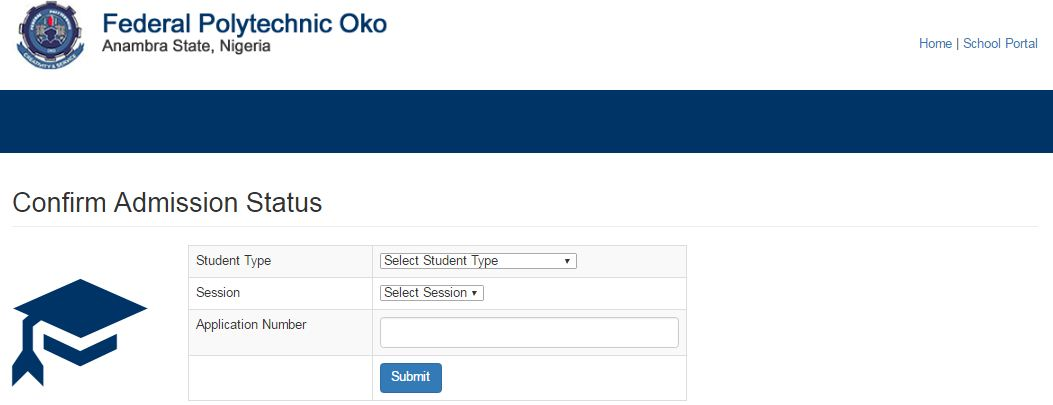 Fed Poly Oko 2 - Federal Polytechnic Oko (OKOPOLY) 2017/2018 ND Full-time Admission List Released
