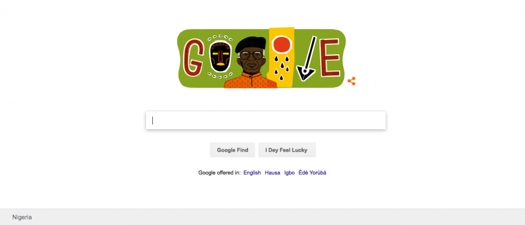 Doodle of Chinua Achebe
