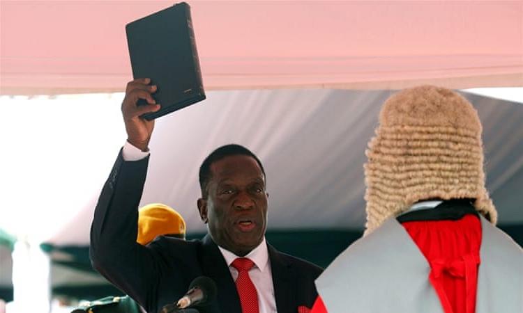 Magawa Zimbabwe - Emerson Mnangagwa Sworn In As Zimbabwe's President