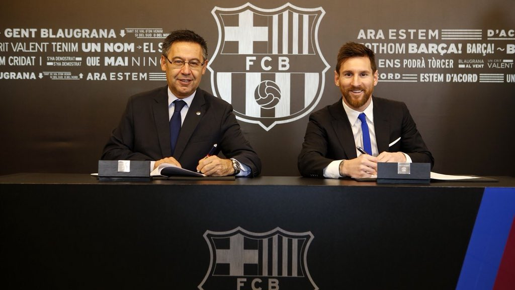 Messi Signs New Contract