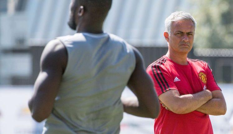 Mourinho and Lukaku Training