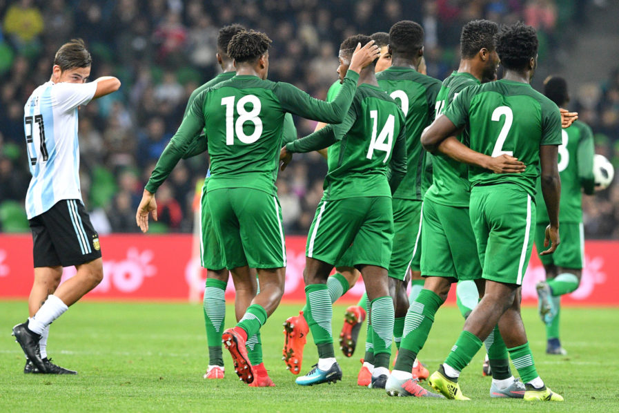 Super eagles Argentina 897x598 - PHOTOS: Nigeria's Super Eagles Thrash Argentina 4-2 in International Friendly