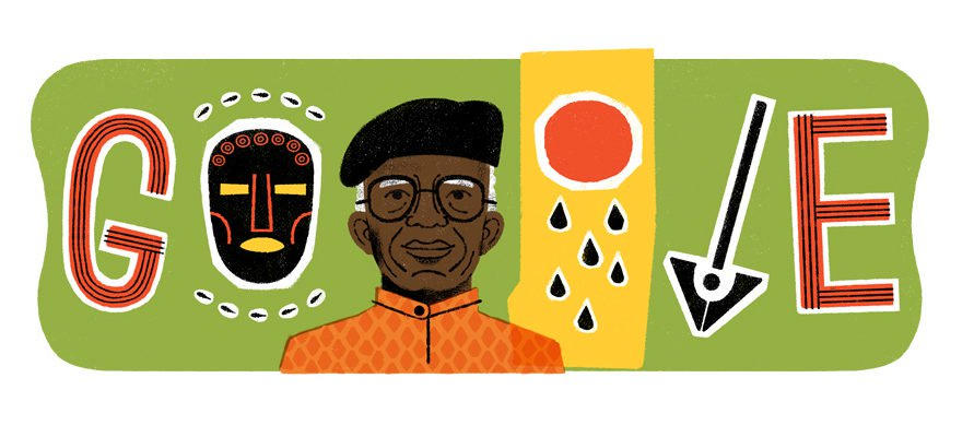 Photo of Google Honours Chinua Achebe With Doodle On His 87th Birthday