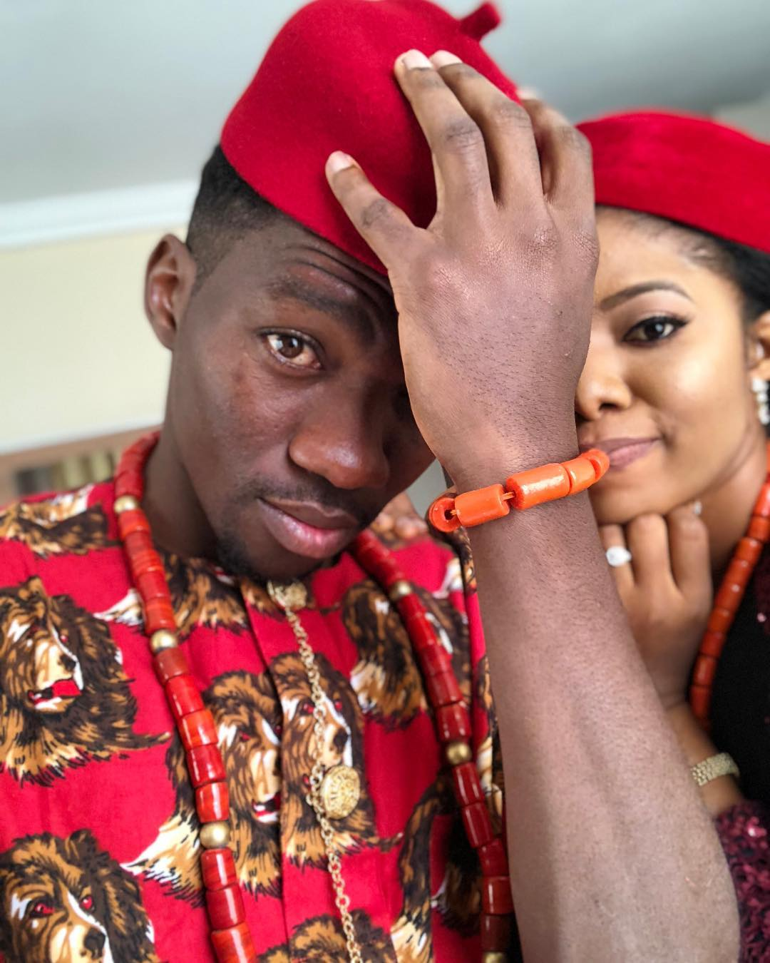 Photo of Super Eagles Player, Kenneth Omeruo Weds His Fiancee