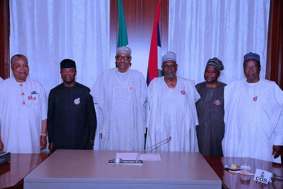 25398937 1997429677137780 5654196538427675586 n - PHOTOS: President Buhari Receives Panel Report On NIA