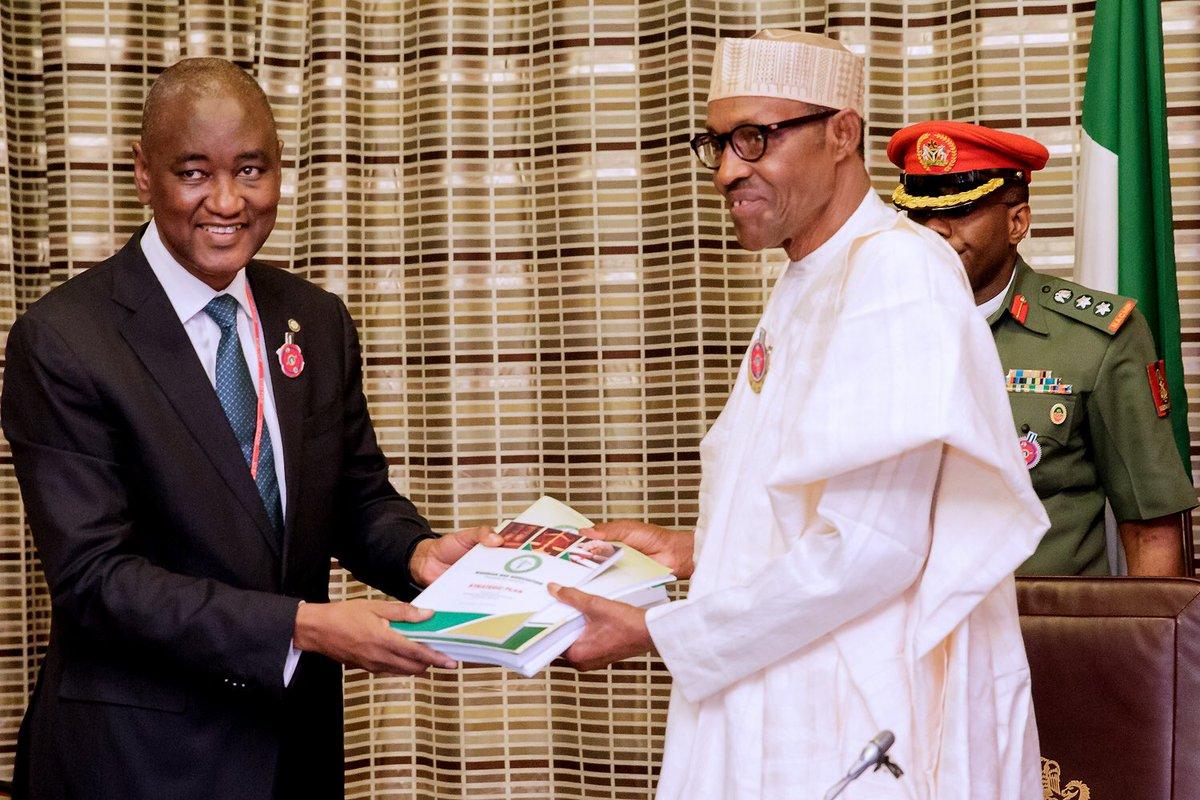PHOTOS: President Buhari Receives NBA Delegation In Aso Rock Villa