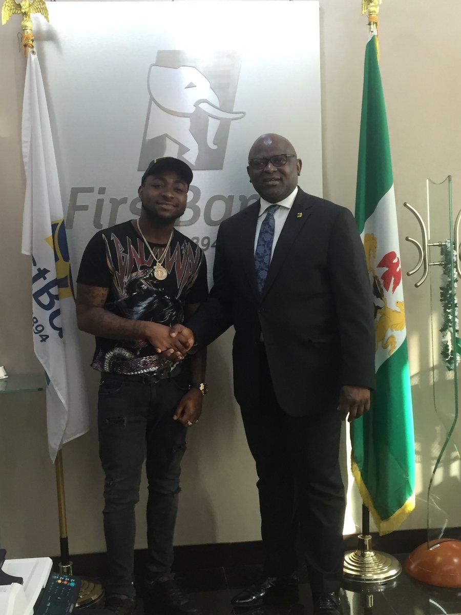 Davido First Bank - Davido Seals Partnership Deal with First Bank Nigeria