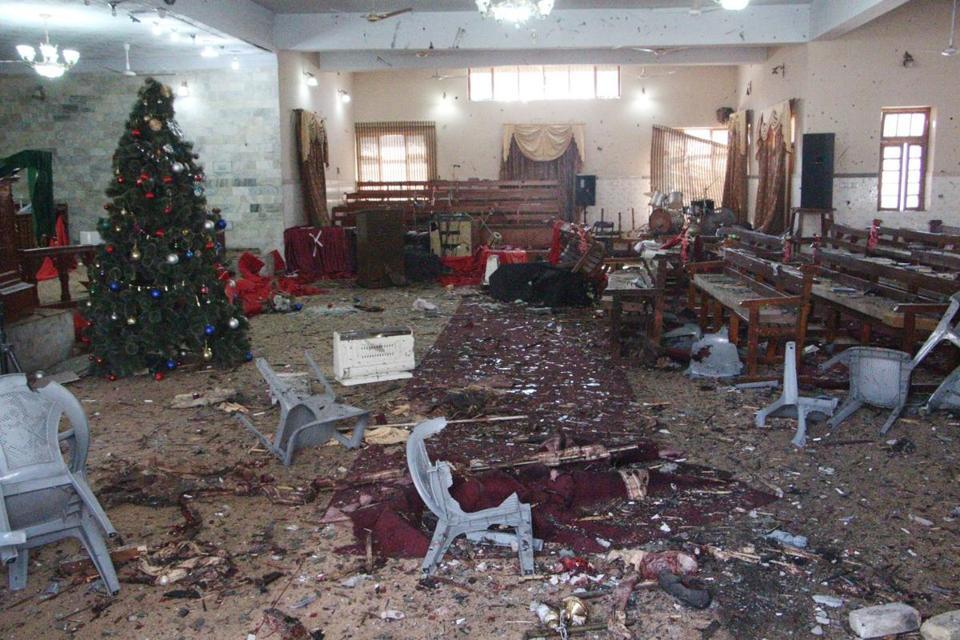 Rex Suicide bomb attack at a Church 9295336A - Five People Killed As Two Suicide Bombers Attack Church In Pakistan