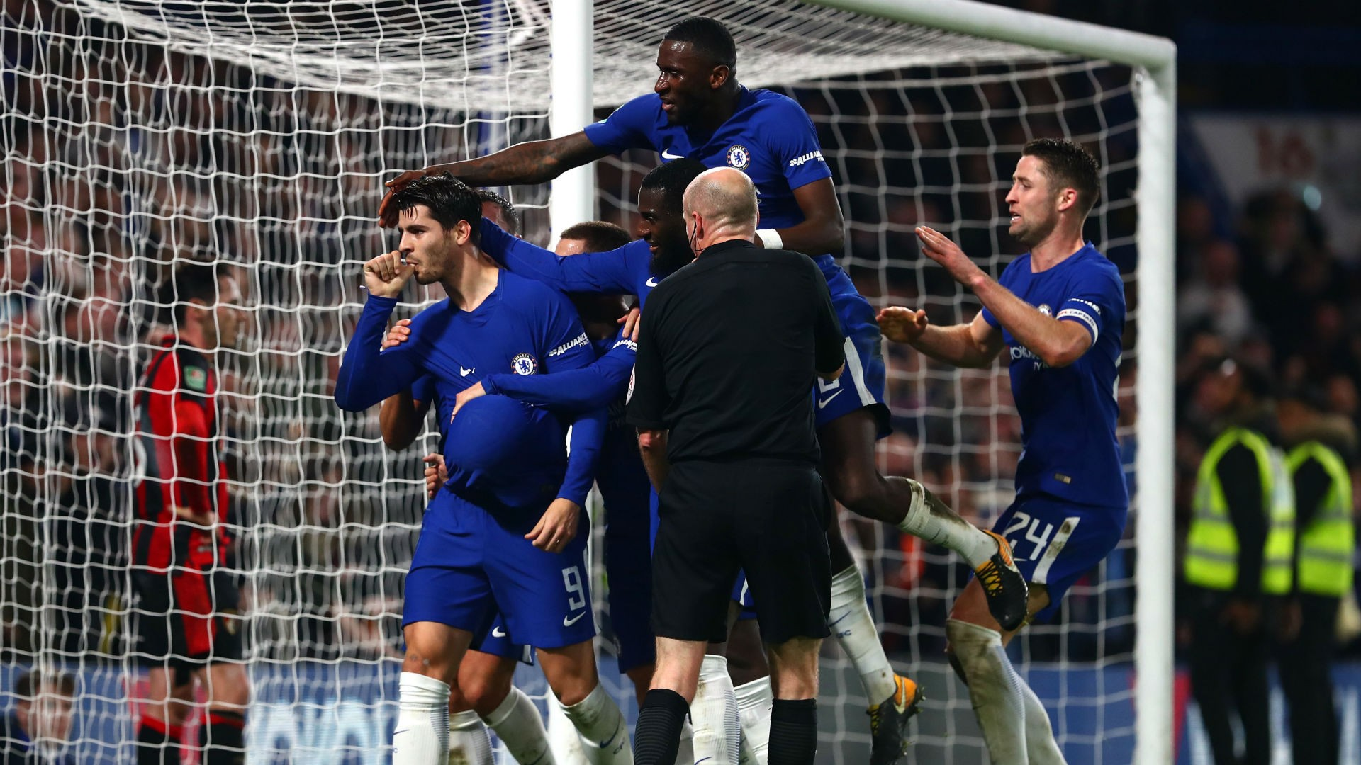 Chelsea vs Bournemouth 2 1 EFL Cup Highlights