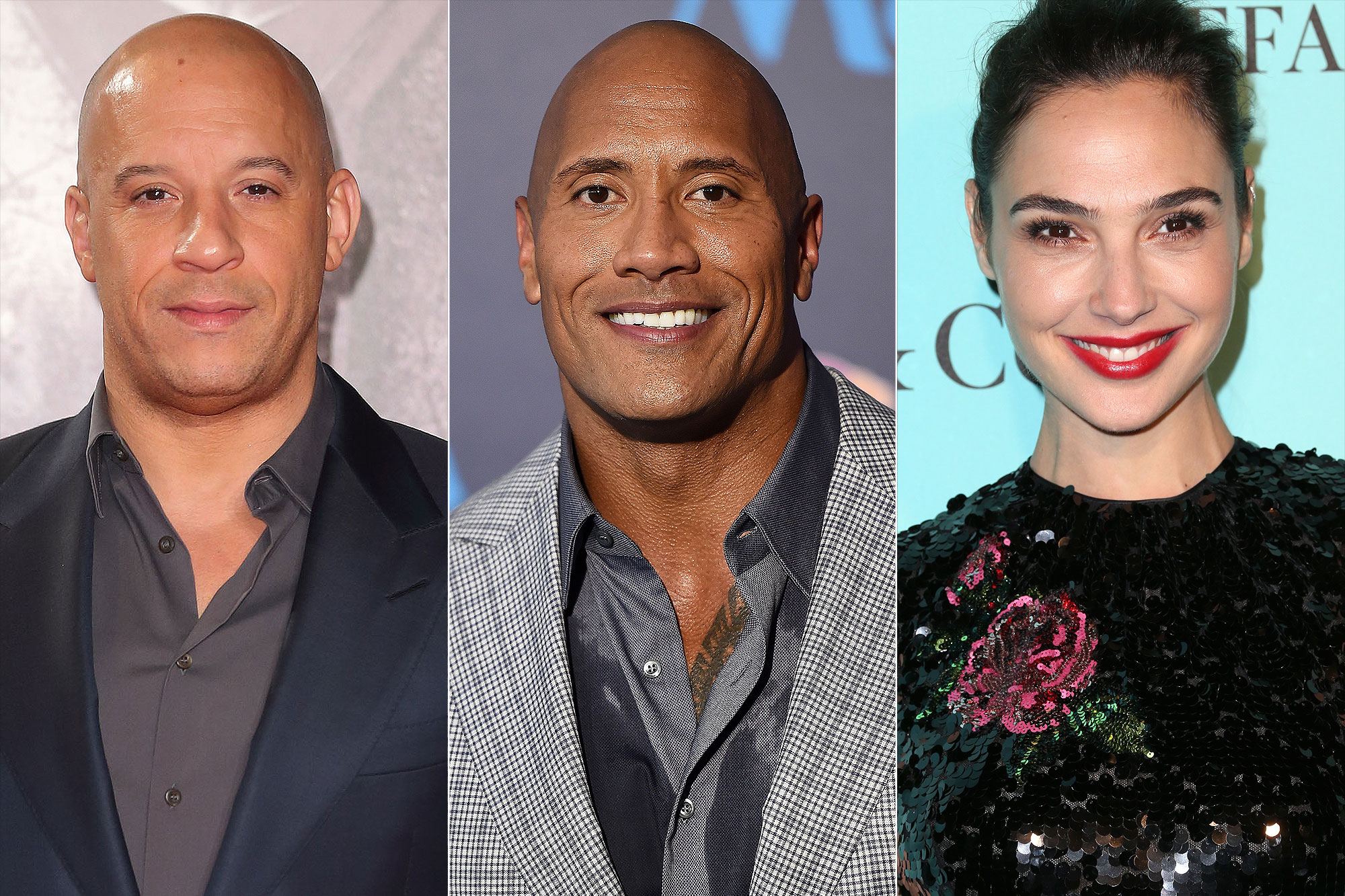 highest paid actors - Full List: Vin Diesel, Dwayne Johnson and Gal Gadot Named As Top-Grossing Actor For 2017