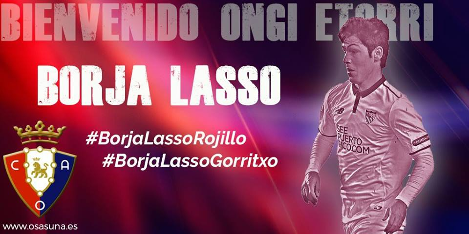 Photo of DONE DEAL: Osasuna sign Sevilla winger Borja Lasso on loan with option for buy