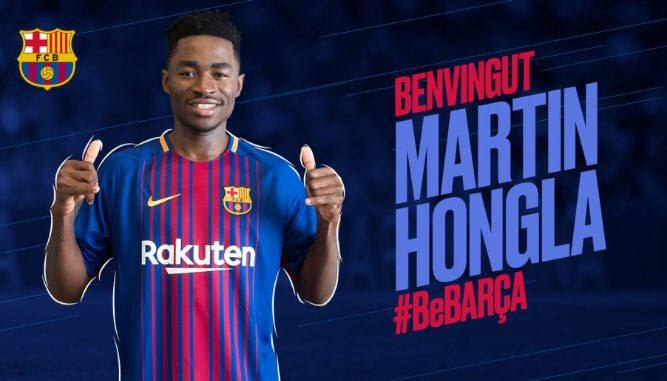 Photo of DONE DEAL: FC Barcelona sign Cameroonian Martin Hongla on loan from Granada