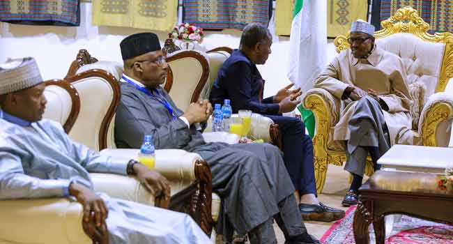 Buhari AU Arrival 1 - Buhari, African Leaders to Discuss Peace, Security Matters at AU Summit In Addis Ababa