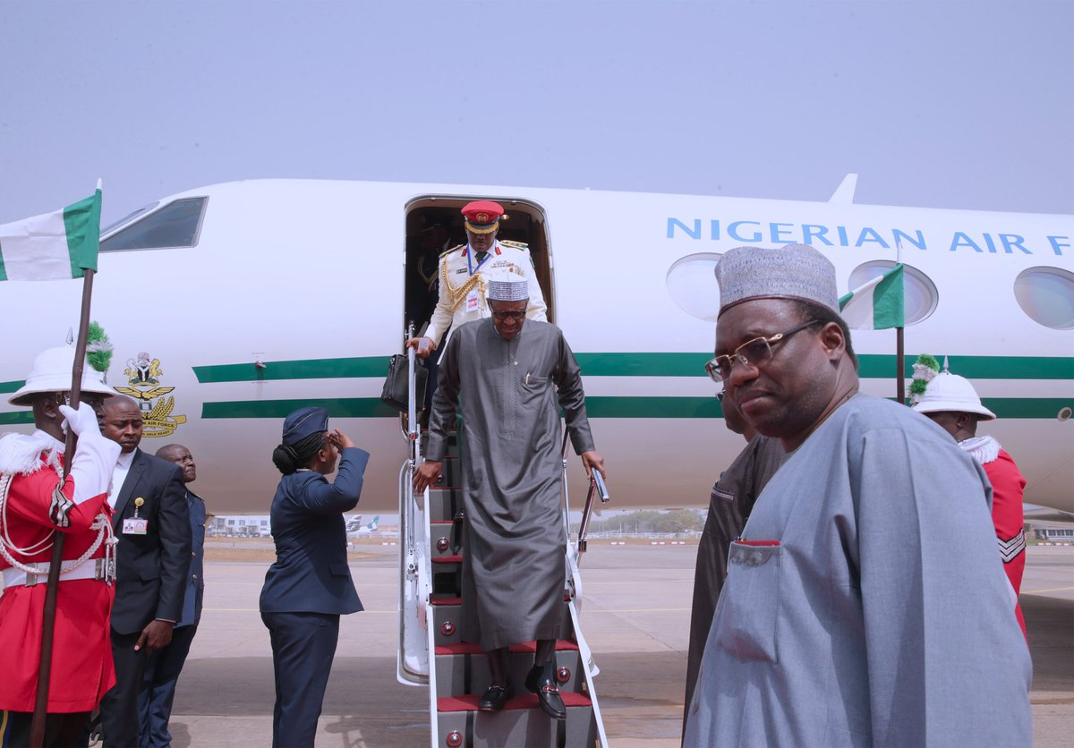 Photo of PHOTOS: Buhari Returns from Addis Ababa After AU Meeting