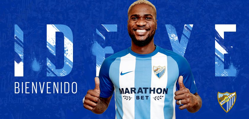 Photo of DONE DEAL: Málaga complete the signing of Nigerian forward Brown Ideye from Chinese side Tianjin Teda on loan