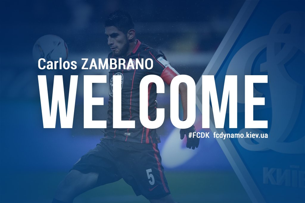 DONE DEAL: FC Dynamo Kyiv complete the signing of Carlos Zambrano from Rubin Kazan
