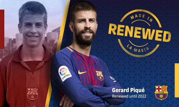 Pique - Pique Extends Barcelona Contract Until 2022