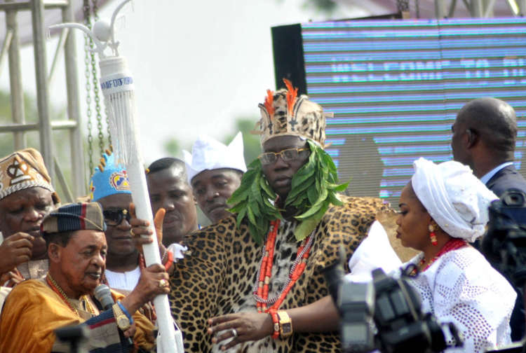 Photo of PHOTOS: Gani Adams Installed As 15th Aare Ona Kakanfo