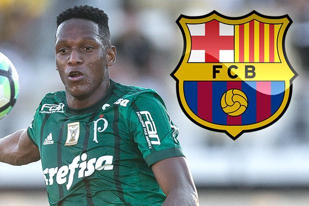 Photo of DONE DEAL: BARCELONA sign YERRY MINA from Palmeiras