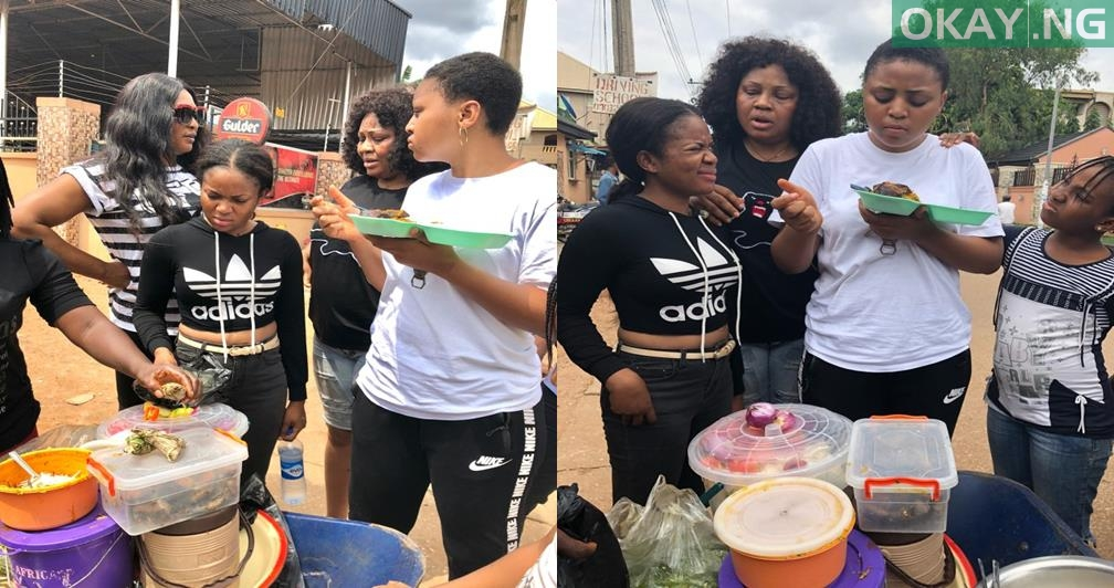 27894140 1769681016673490 5829559385738706944 n tile - Photos: Regina Daniel share pictures of herself eating Abacha