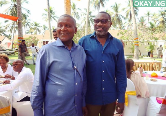 5a924ad1d2246 - Photos: Billionaire businessmen, Femi Otedola & Aliko Dangote party with each other in India