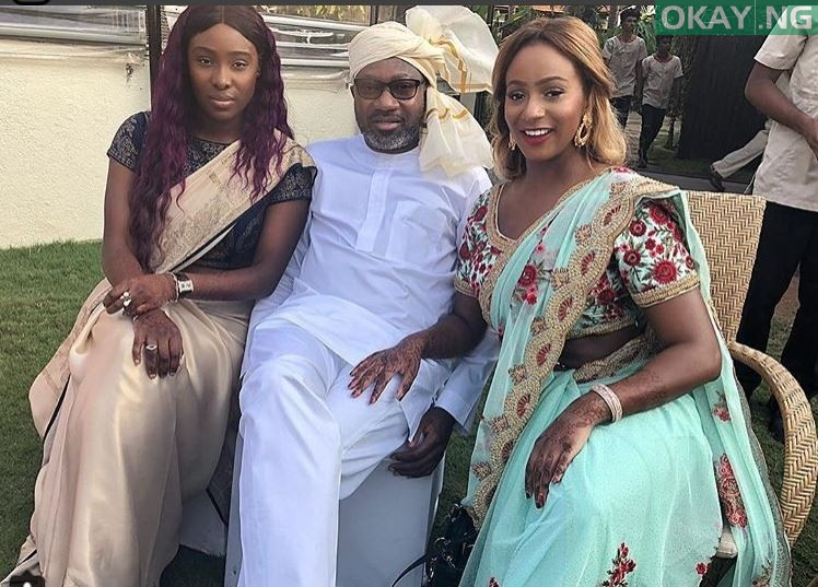 Photo of Photos: Femi Otedola, his daughters & Dangote rocking Indian attires in India