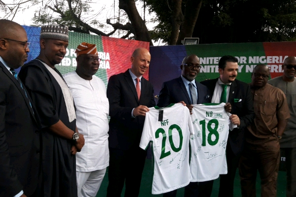 NFF Sign Partnership with Nigerian Breweries - Nigeria Football Federation & Nigerian Breweries Sign Five-Year Partnership Deal worth N2.2 billion.