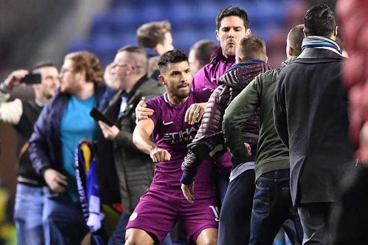 aguero fighting - FA Charge Manchester City, Wigan With Violent Conduct