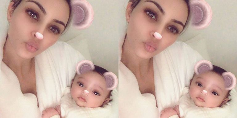 "Photo of Kim Kardashian West Shares First Photo Of Her Daughter ""Chicago"""