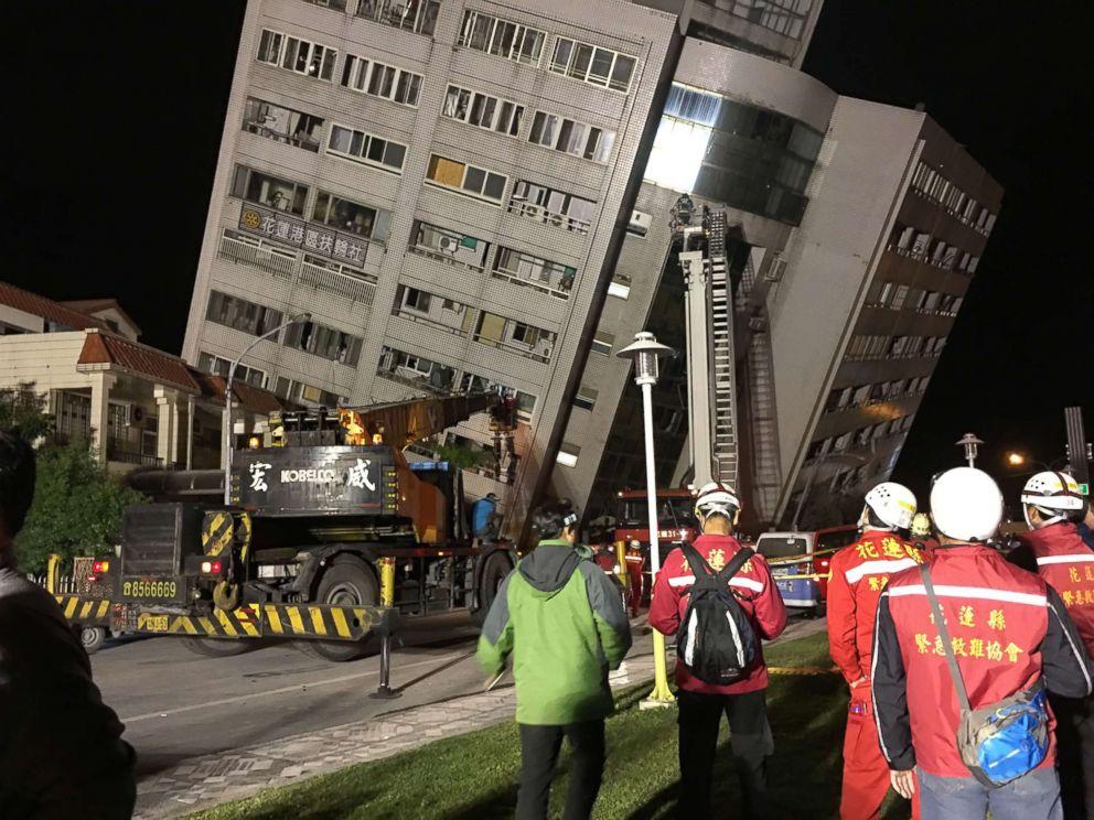 taiwan earthquake 03 - Four People Killed As 6.5 Magnitude Earthquake Hit Taiwan