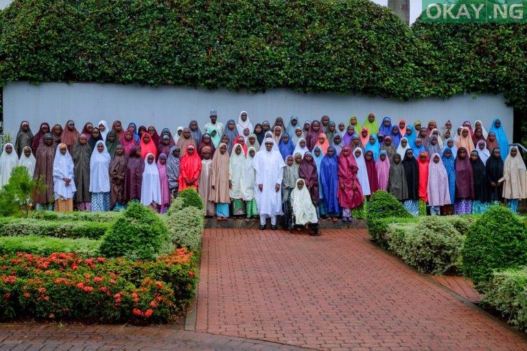 Photo of PHOTOS: President Buhari Meets with Dapchi Schoolgirls In Aso Rock Villa