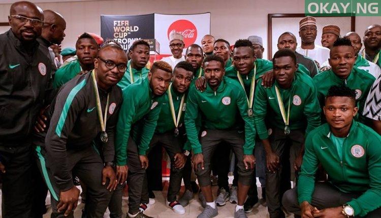 Buhari FIFA World Cup 3 750x430 - PHOTOS: President Buhari Receives FIFA World Cup Trophy In Abuja