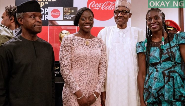 Buhari FIFA World Cup 4 750x430 - PHOTOS: President Buhari Receives FIFA World Cup Trophy In Abuja