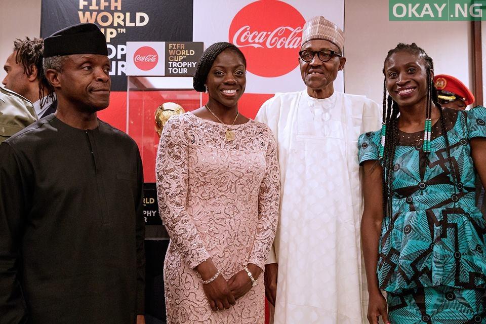 Buhari FIFA World Cup 4 - PHOTOS: President Buhari Receives FIFA World Cup Trophy In Abuja