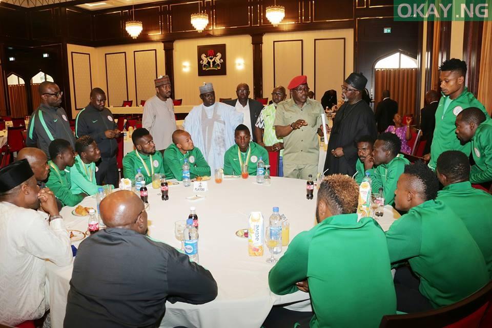 Buhari FIFA World Cup 5 - PHOTOS: President Buhari Receives FIFA World Cup Trophy In Abuja