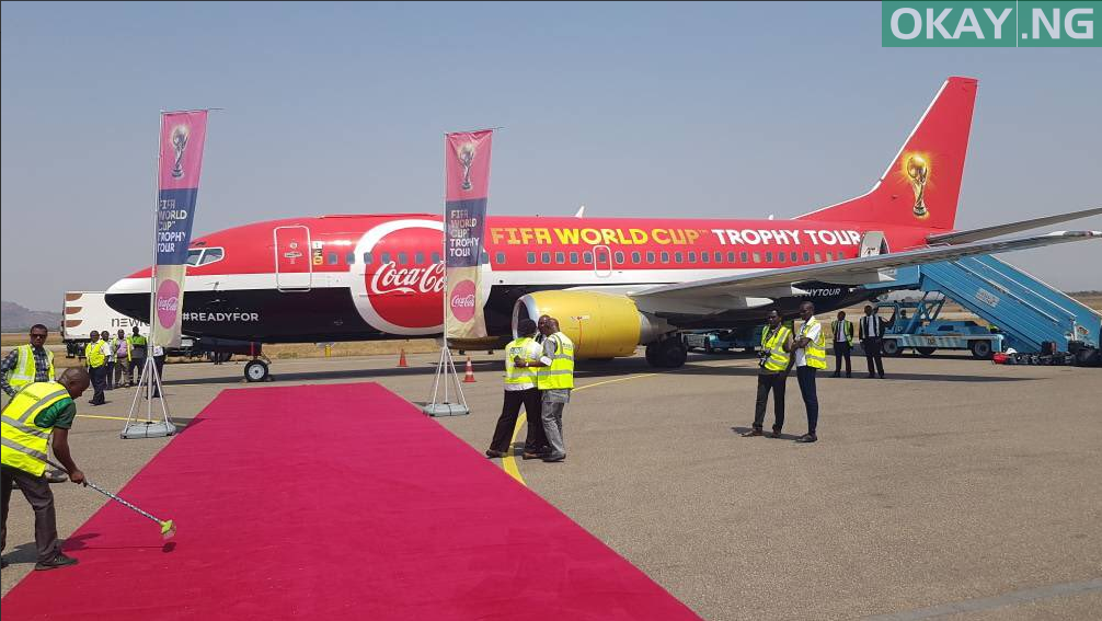 FIFA CUP 1 - PHOTOS: FIFA World Cup Trophy Arrives in Abuja