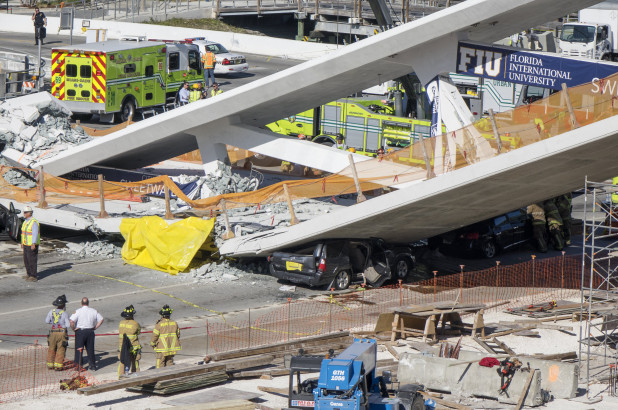 Photo of Four People Dead As Bridge Collapses Near Florida University In Miami