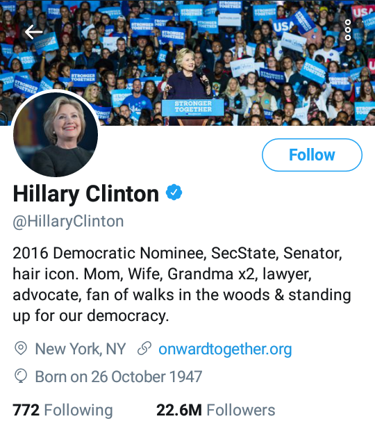 5ae77e0a3428e - Hillary Clinton Changes Her Twitter Bio After Promising Chimamanda Ngozi Adichie