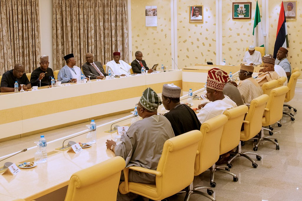 President Buhari Meets with APC Governors Forum