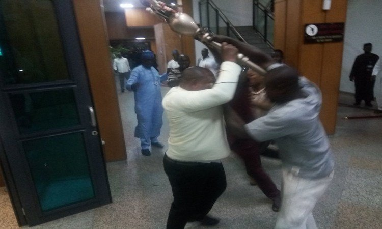 Mace Stolen - In Case You Missed: Thugs Storm Senate, Snatch Mace