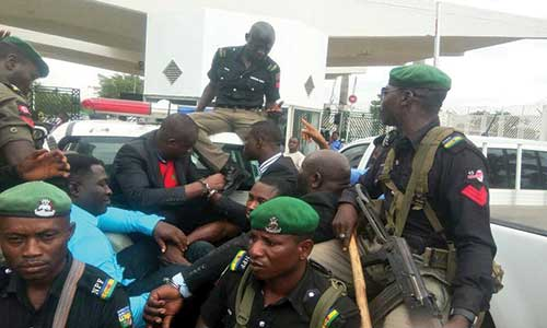 Mace Thugs 1 - PHOTOS: Police Arrest Thugs That Invaded Senate, Stole Mace