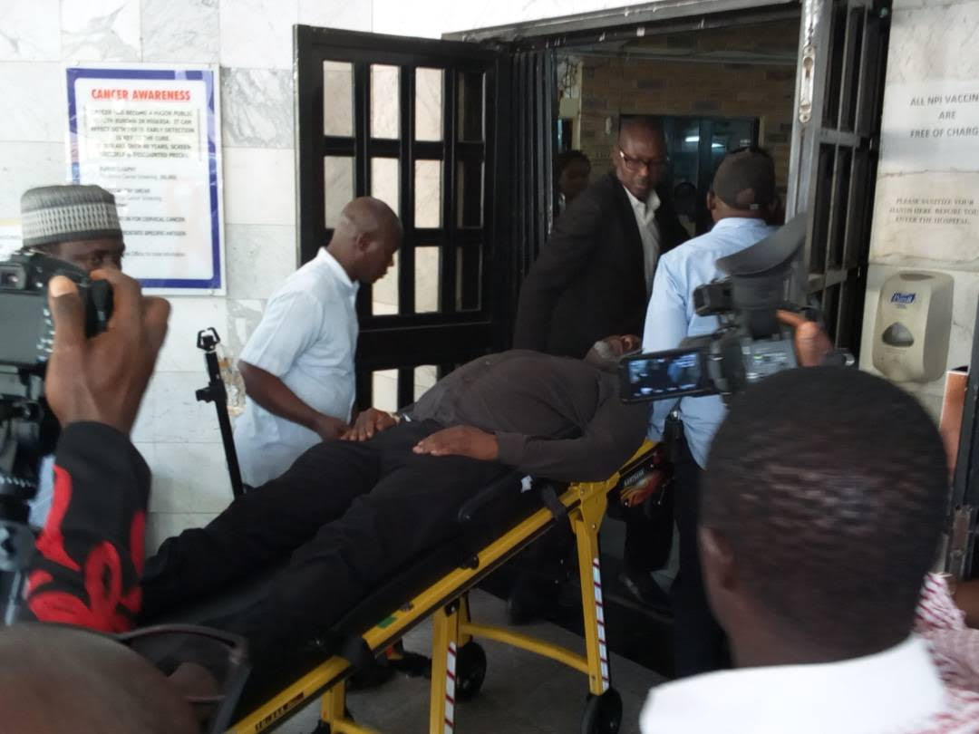 Injured Dino Melaye Hospitalised