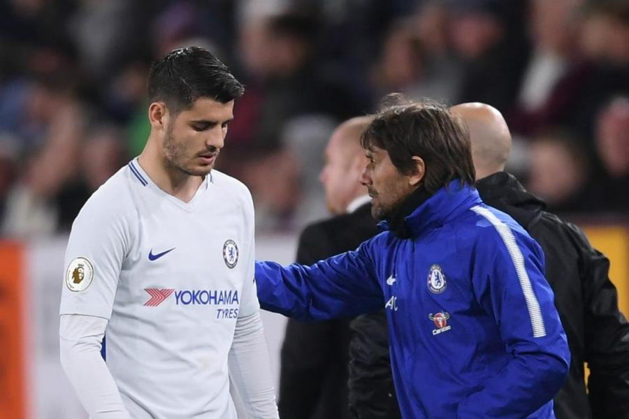 morata100418 - Conte reveals why he subbed off Morata during Chelsea's 2-1 win against Burnley