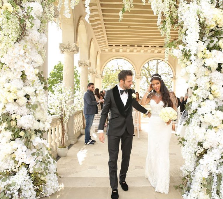 Photo of PHOTOS: Chelsea And Spanish midfielder Cesc Fabregas Wed his fiancee, Daniella Semaan