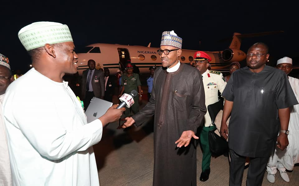 President Buhari Speaks After Returning From Medical Check-Up In London