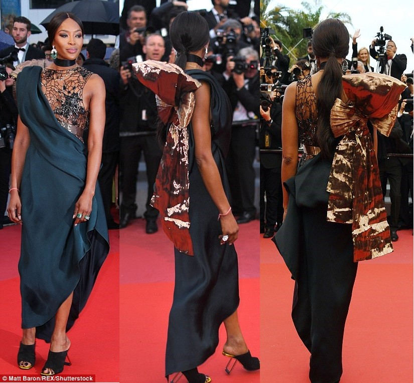Photo of 2018 Cannes Film Festival: Naomi Campbell Goes Braless At BlacKkKlansman Premiere (PHOTOS)