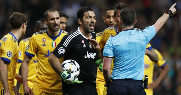 Buffon Charged By UEFA After Comments On Referee Michael Oliver