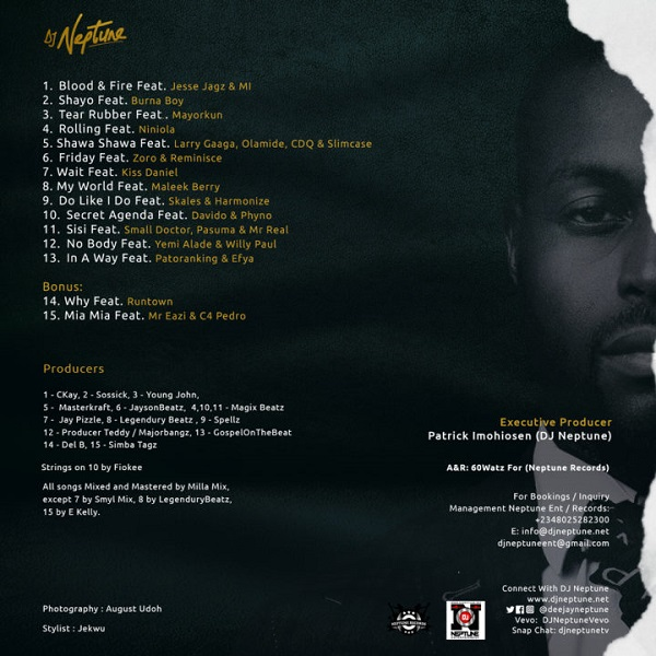 "DJ Neptune Greatness Album Tracklist - DJ Neptune Unveils Cover & Tracklist For His Upcoming Album ""The Greatness"""