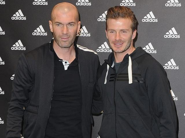 Zinedine Zidane and David Beckham