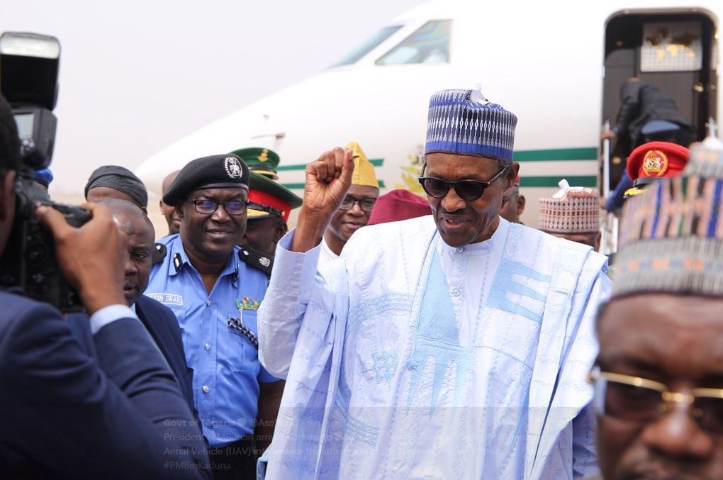Photo of President Buhari Arrives Daura Ahead of APC Ward Congress